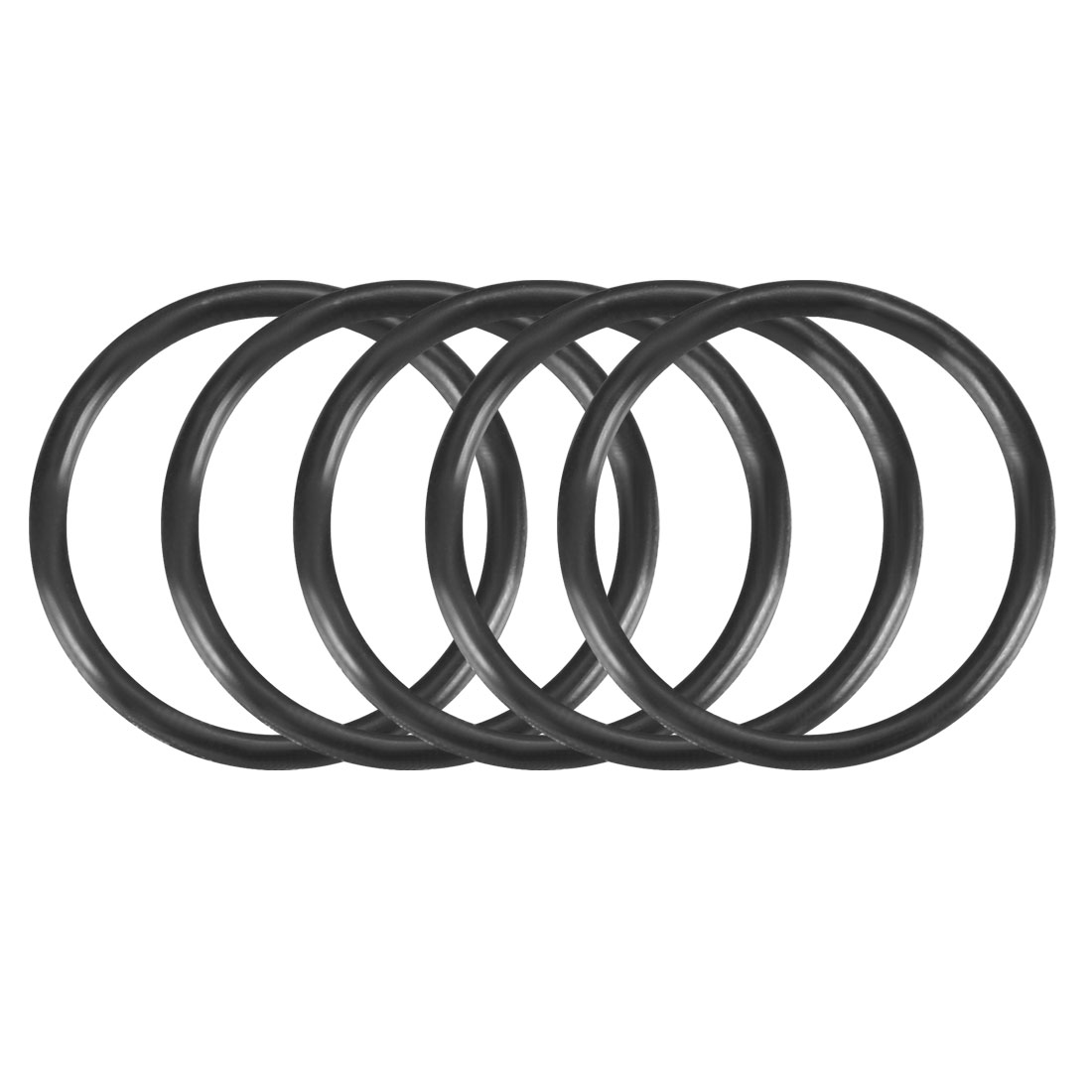 50Pcs 15x1.2mm Nitrile Rubber O-rings Heat Resistant Sealing Ring Grommets Black
