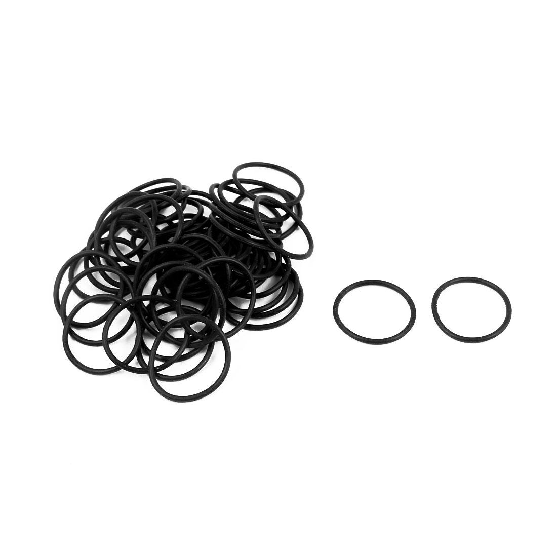 50Pcs Black 18mm x 1.2mm Nitrile Rubber O Ring NBR Oil Sealing Grommets