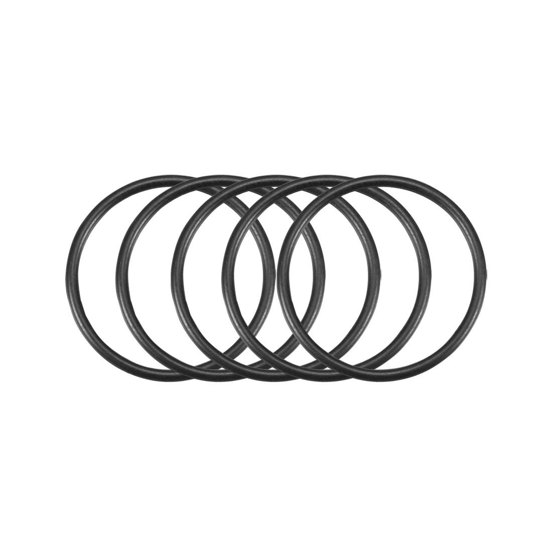 50Pcs Black 20mm x 1.2mm Nitrile Rubber O Ring NBR Oil Sealing Grommets