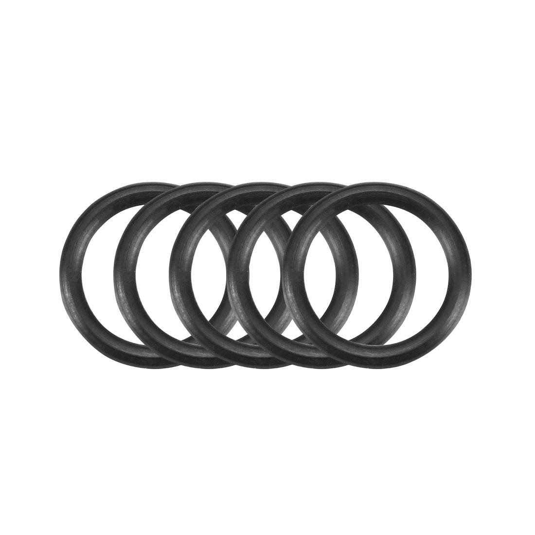 50 Pcs Black 12mm x 1.5mm Nitrile Rubber O Ring NBR Oil Sealing Grommets