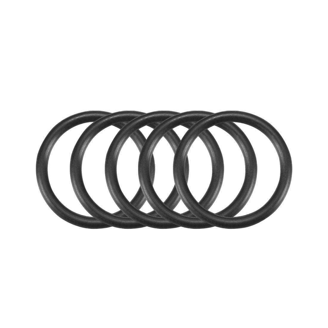 50Pcs Black 15mmx1.5mm Nitrile Rubber O Ring NBR Oil Resistant Sealing Grommets