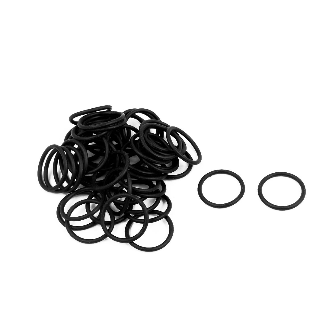 50Pcs 17x1.5mm Nitrile Rubber O-rings Heat Resistant Sealing Ring Grommets Black