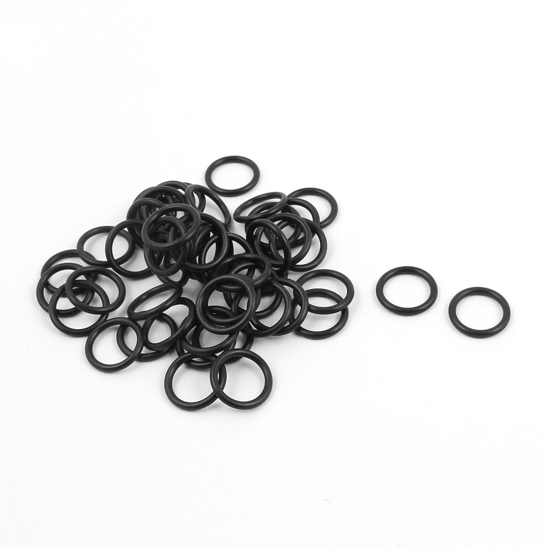 50Pcs Black 12.5mm x 1.5mm Nitrile Rubber O Ring NBR Oil Resistant Sealing Grommets