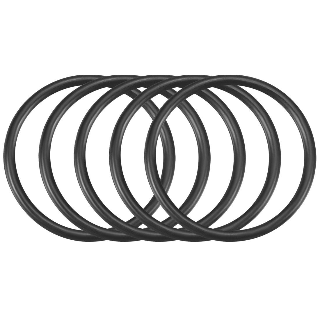 50Pcs Black 21mm x 1.5mm Nitrile Rubber O Ring NBR Oil Sealing Grommets