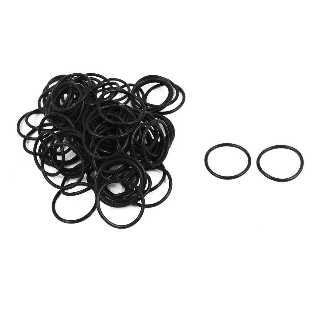 100Pcs Black 21mm x 1.5mm Nitrile Rubber O Ring NBR Oil Sealing Grommets