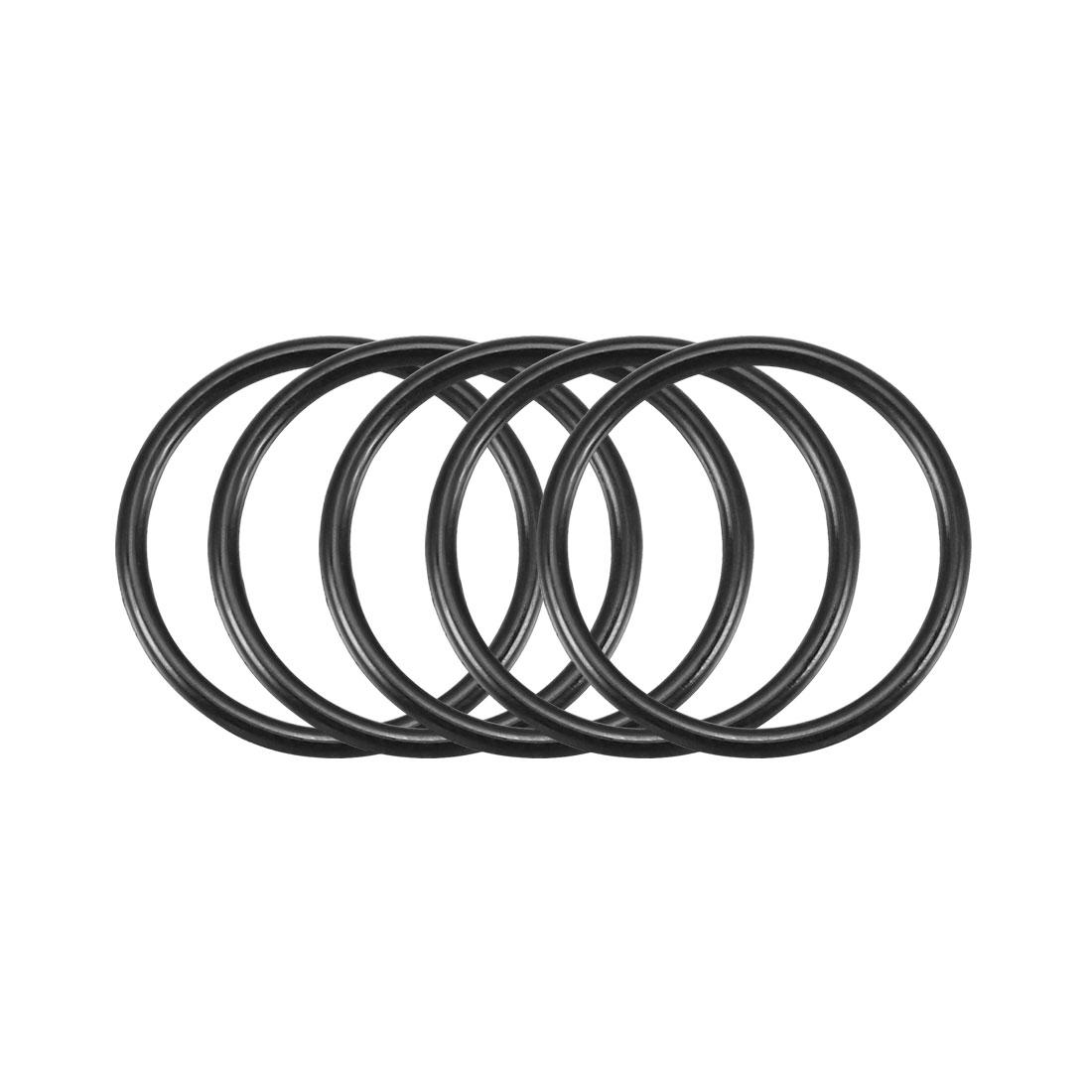 50Pcs Black 20mm x 1.5mm Nitrile Rubber O Ring NBR Oil Sealing Grommets