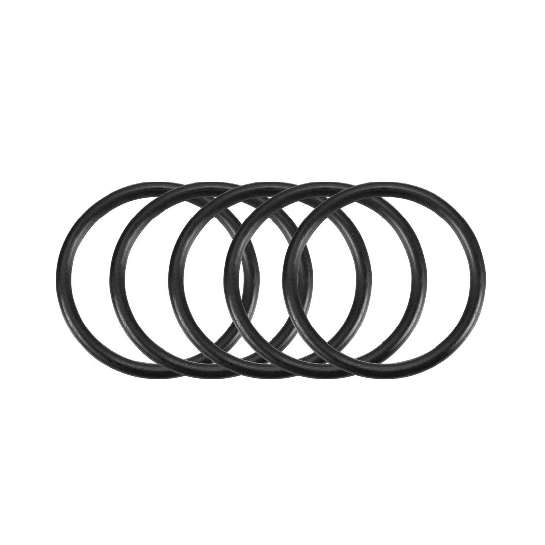100Pcs Black 20mm x 1.5mm Nitrile Rubber O Ring NBR Oil Sealing Grommets