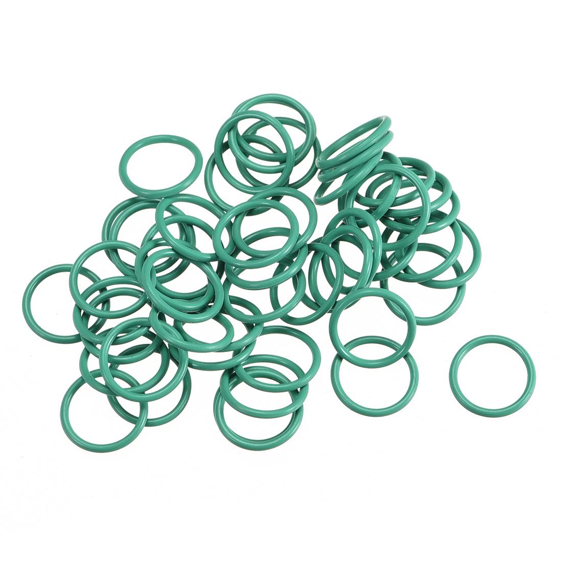 50Pcs 10mm x 1mm FKM O-rings Heat Resistant Sealing Ring Grommets Green