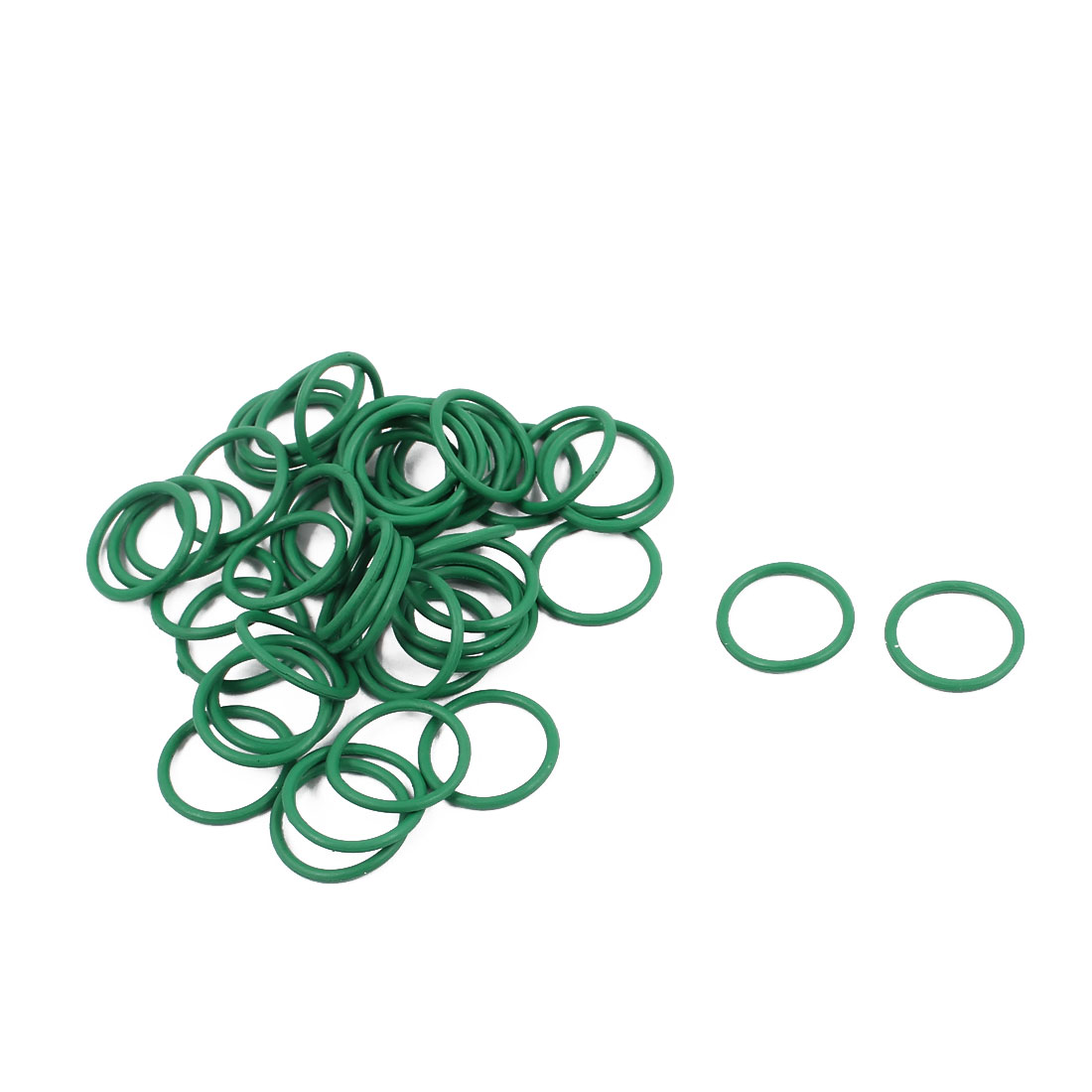 50Pcs 11mm x 1mm FKM Nitrile Rubber O-rings Heat Resistant Sealing Ring Grommets Green
