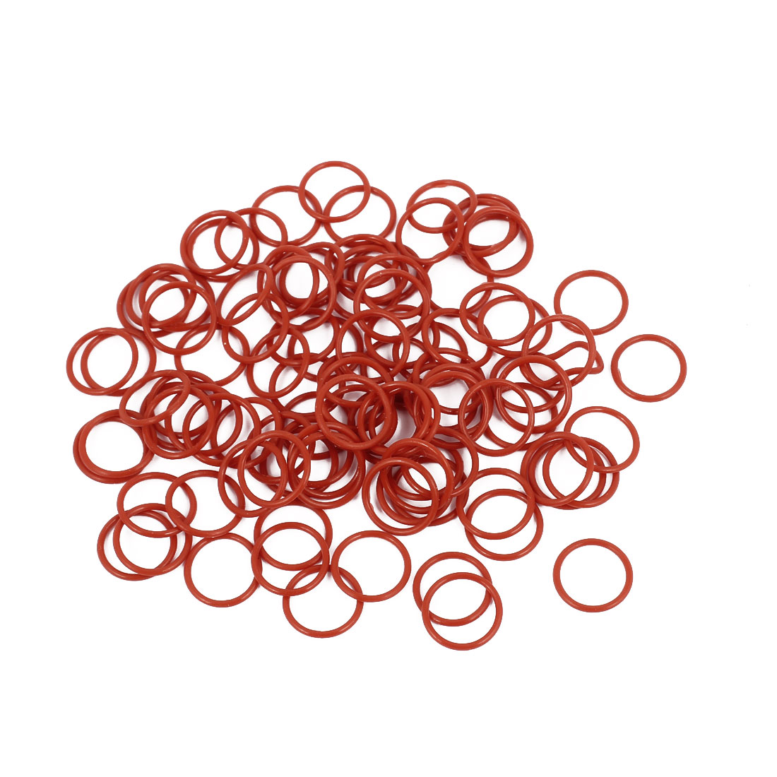 100Pcs 11mm x 1mm Rubber O-rings NBR Heat Resistant Sealing Ring Grommets Red