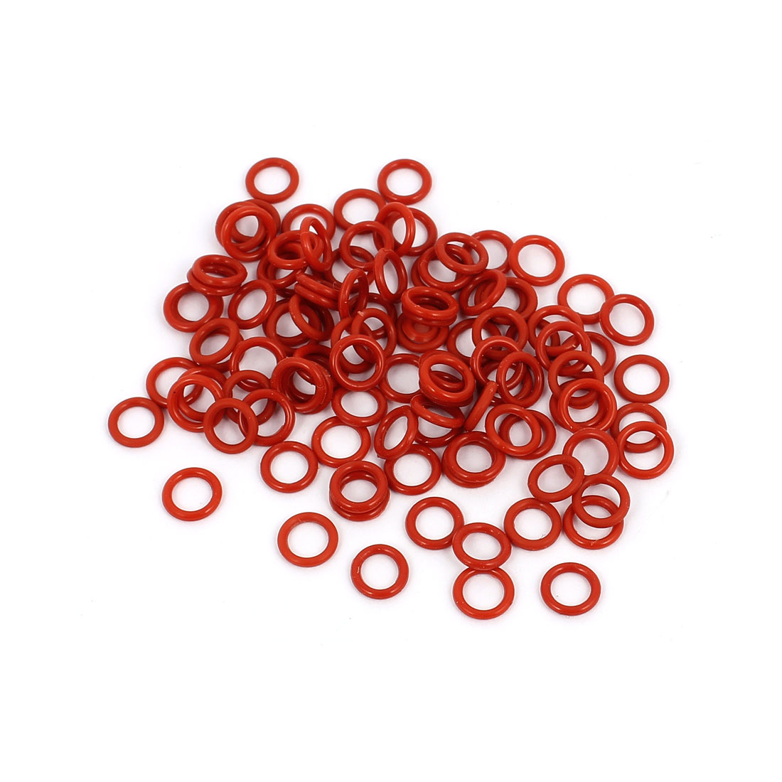 100Pcs 6mm x 1mm Rubber O-rings NBR Heat Resistant Sealing Ring Grommets Red
