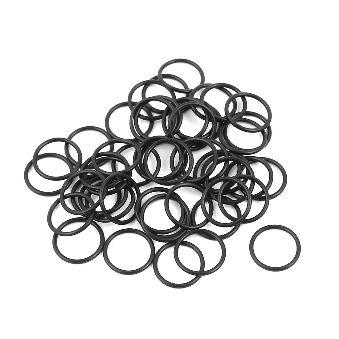 50 Pcs Black 7.9mm x 0.8mm Nitrile Rubber O Ring NBR Oil Sealing Grommets