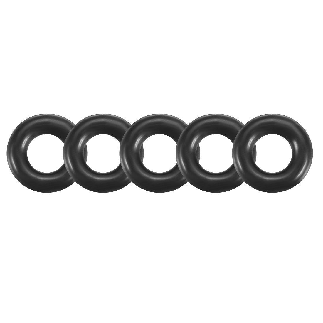 100Pcs Black 3mm x 0.8mm Nitrile Rubber O Ring NBR Oil Sealing Grommets