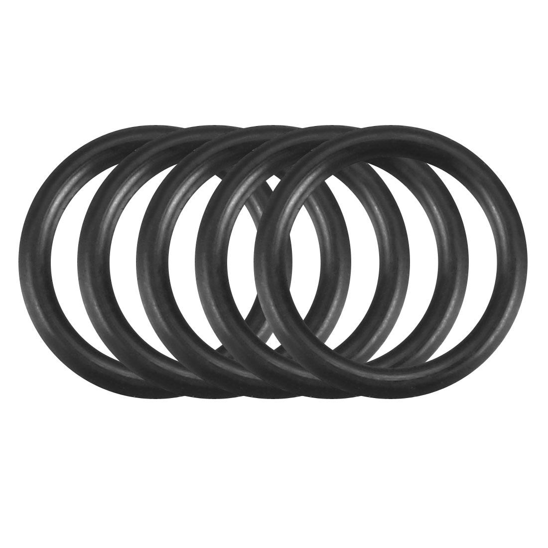 100Pcs Black 8mm x 1mm Nitrile Rubber O Ring NBR Oil Sealing Grommets