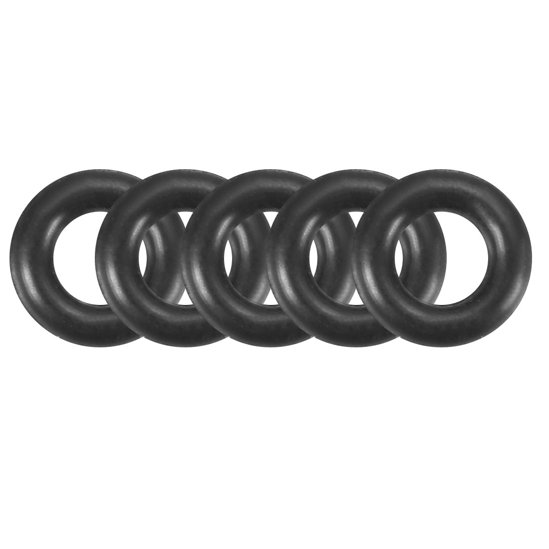 100Pcs 4mmx1mm Nitrile Rubber O-rings Heat Resistant Sealing Ring Grommets Black