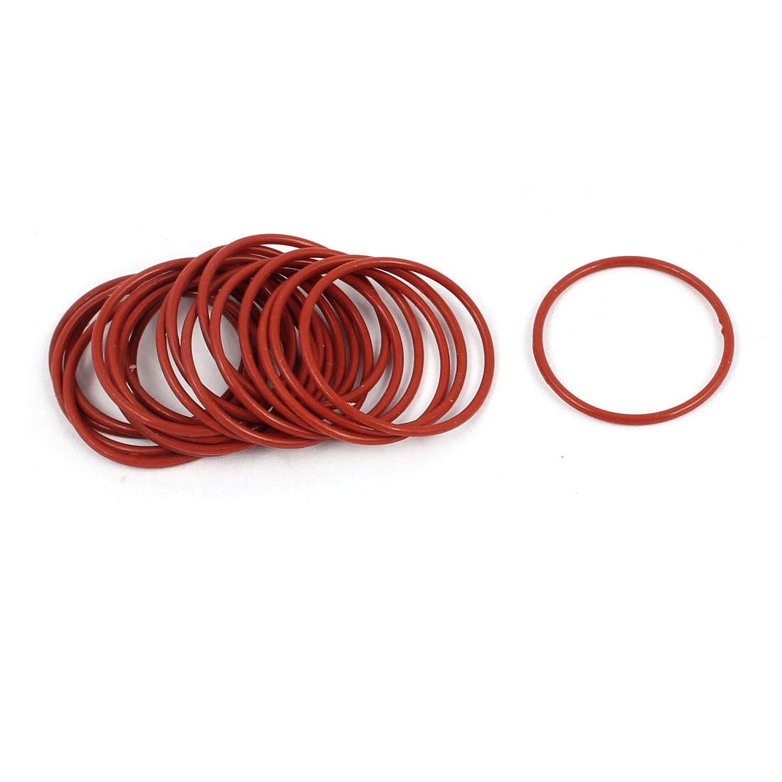20Pcs 20mm x 1mm Rubber O-rings NBR Heat Resistant Sealing Ring Grommets Red