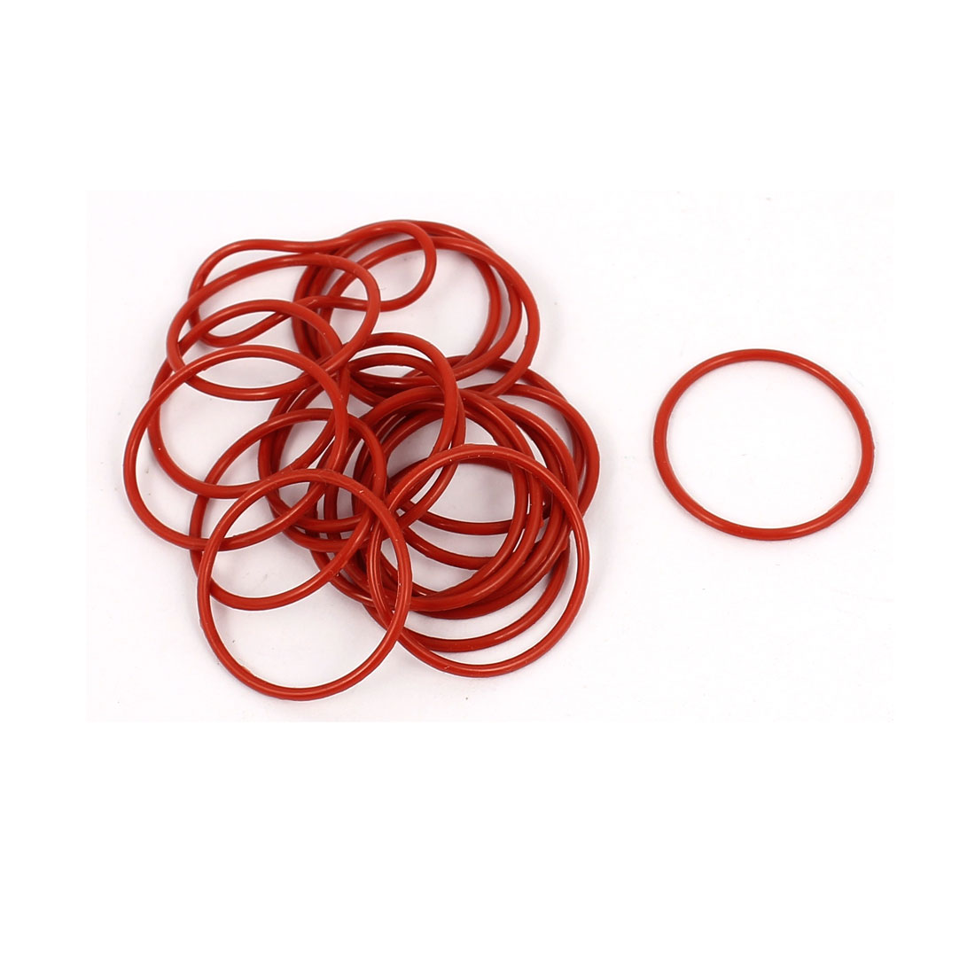 20Pcs 18mm x 1mm Rubber O-rings NBR Heat Resistant Sealing Ring Grommets Red