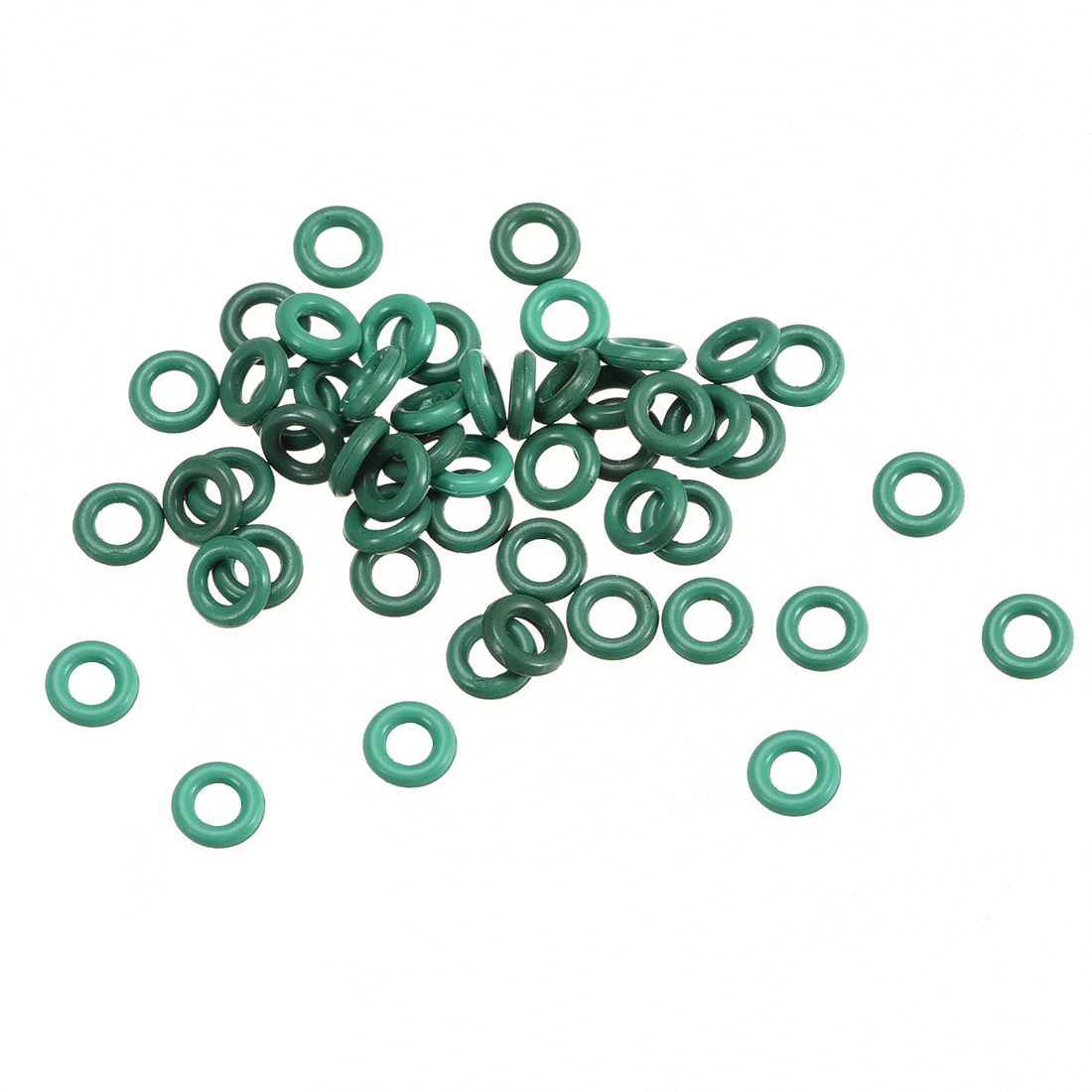 50Pcs 4mm x 1mm Nitrile Rubber O Ring FKM Heat Resistant Sealing Grommets Green