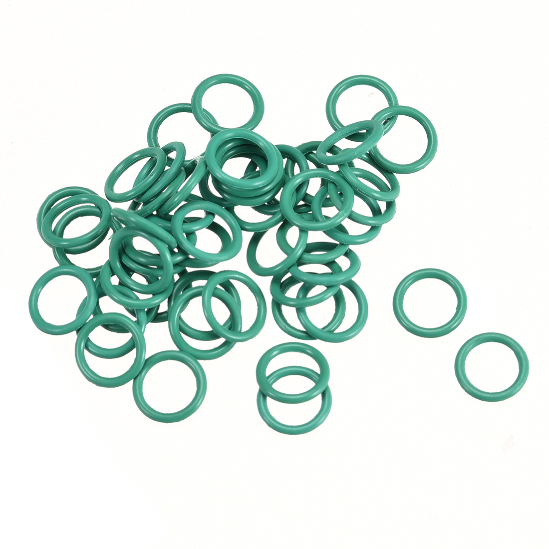 50Pcs 7mm x 1mm Nitrile Rubber O Ring FKM Heat Resistant Sealing Grommets Green