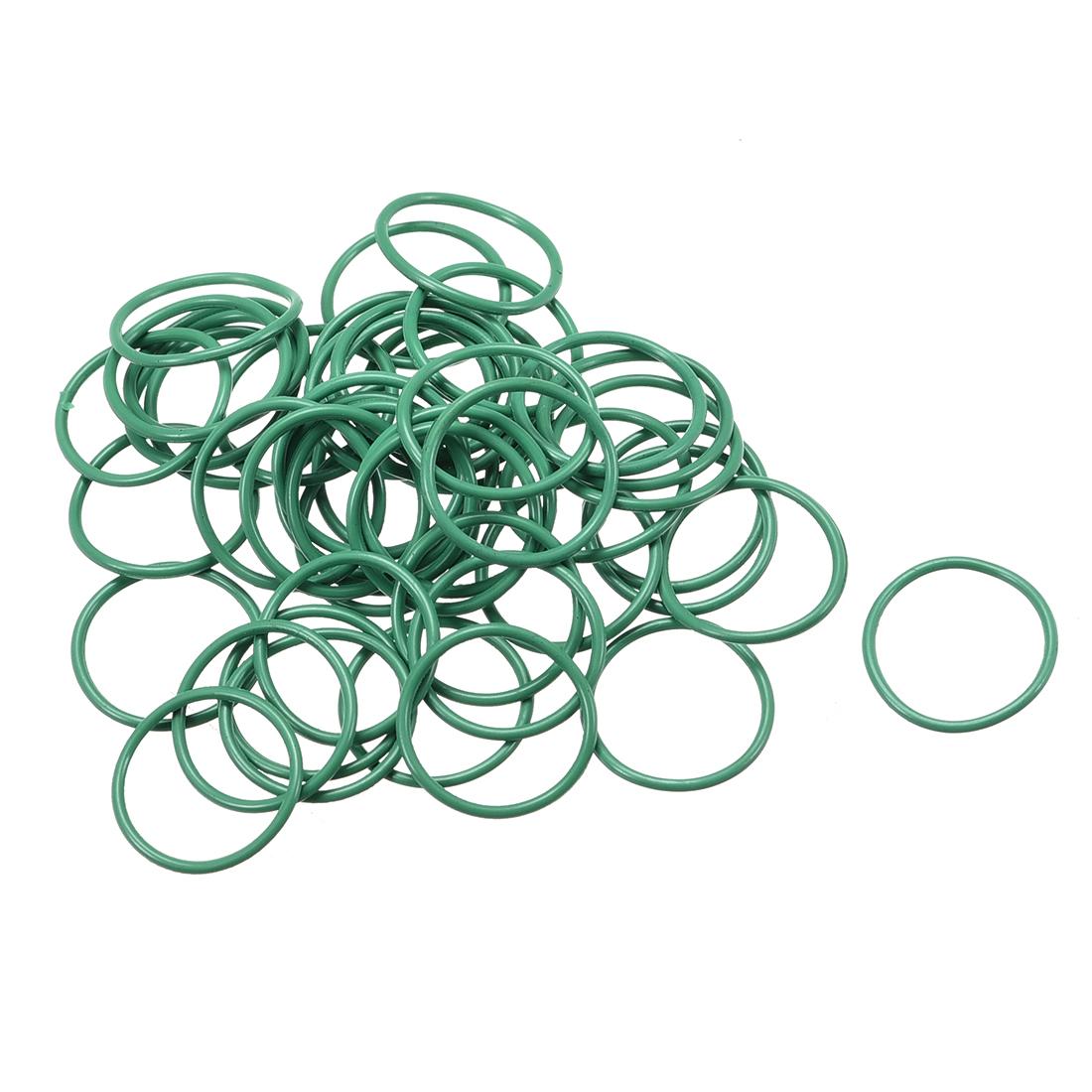 50Pcs Green 12 x 1.5mm Nitrile Rubber O Ring NBR Oil Sealing Grommets