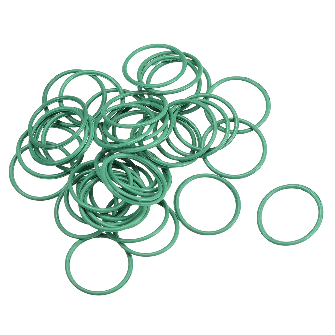 50Pcs 15mm x 1mm FKM Nitrile Rubber O-rings Heat Resistant Sealing Ring Grommets Green