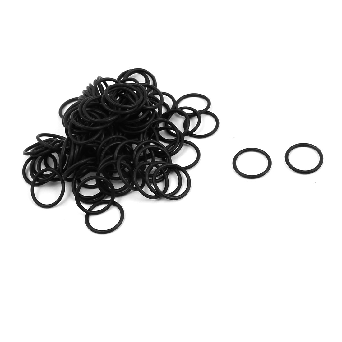100Pcs Black 12mm x 1.2mm Nitrile Rubber O Ring NBR Oil Sealing Grommets