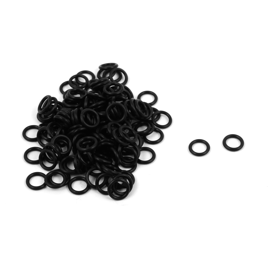 100Pcs 5mm Inner Dia Nitrile Rubber O-rings Heat Resistant Sealing Grommets