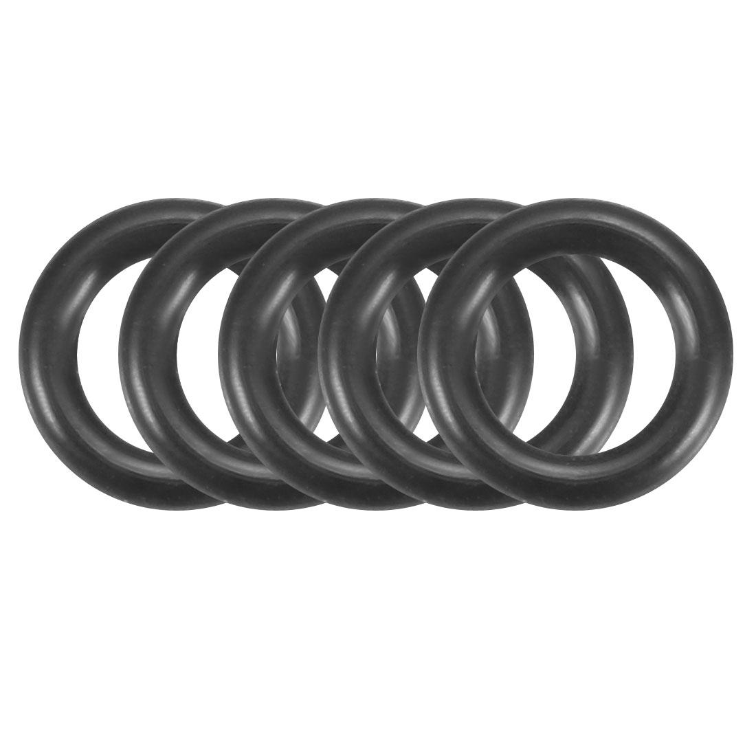 100Pcs Black 4mm x 1.2mm Nitrile Rubber O Ring NBR Oil Sealing Grommets