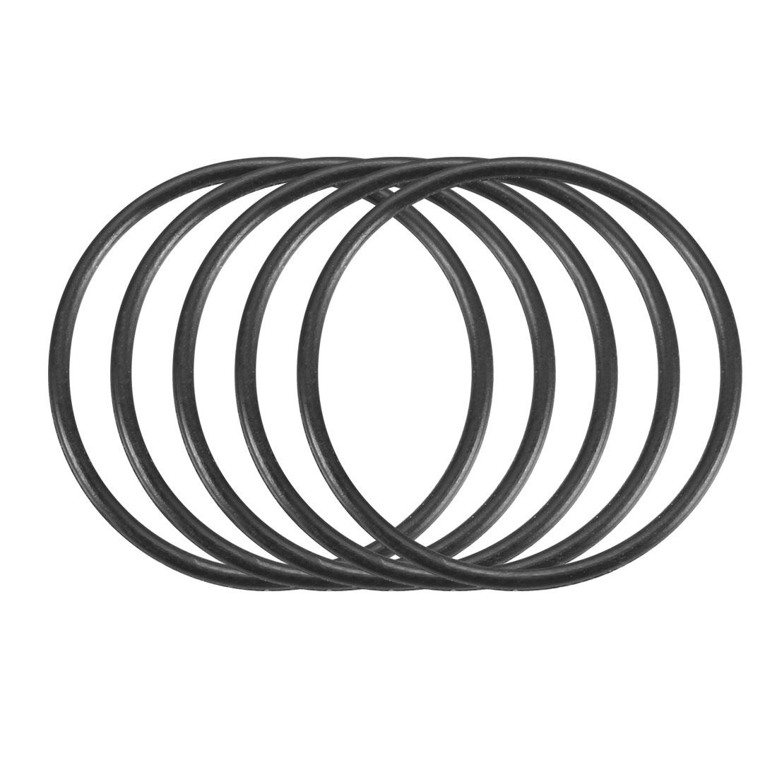 100Pcs Black 24mm x 1.2mm Nitrile Rubber O Ring NBR Oil Sealing Grommets