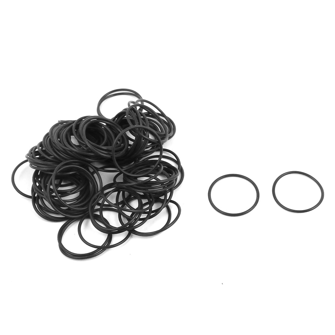 100Pcs 22x1.2mm Nitrile Rubber O-rings Heat Resistant Sealing Ring Grommets Black
