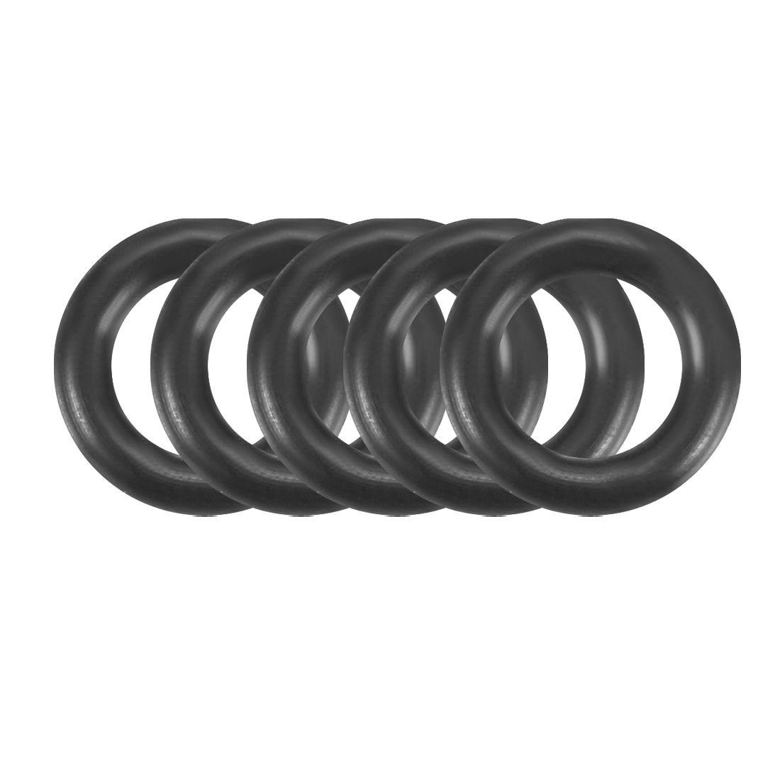 100Pcs 6x1.2mm Nitrile Rubber O-rings Heat Resistant Sealing Ring Grommets Black