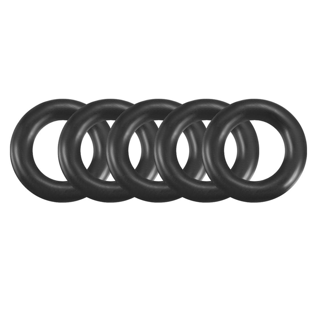100Pcs Black 5.5mm x 1.2mm Nitrile Rubber O Ring NBR Oil Sealing Grommets