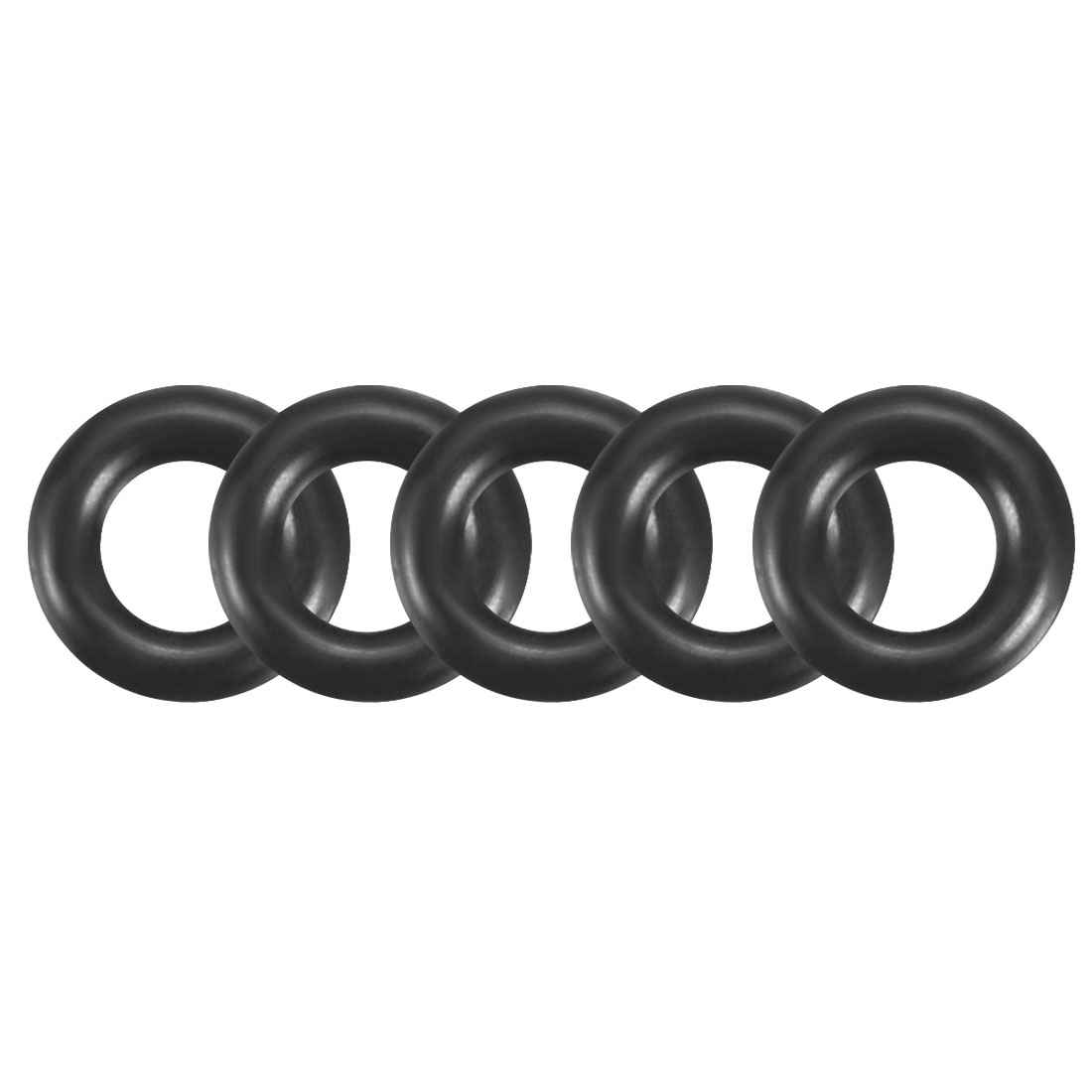 100Pcs Black 5mm x 1.2mm Nitrile Rubber O Ring NBR Oil Sealing Grommets