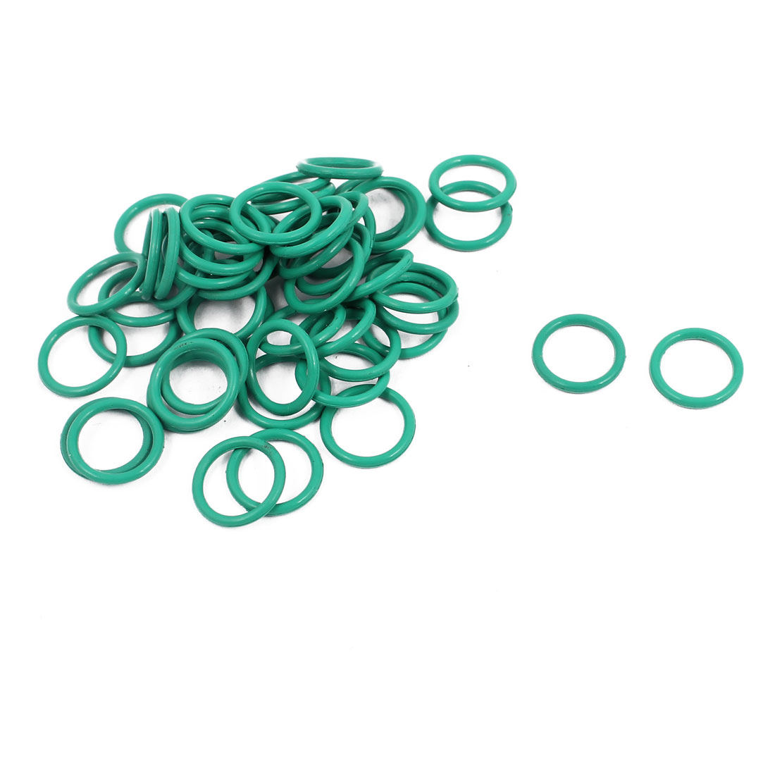 50Pcs 10mm x 1.2mm FKM Nitrile Rubber O-rings Heat Resistant Sealing Ring Grommets Green
