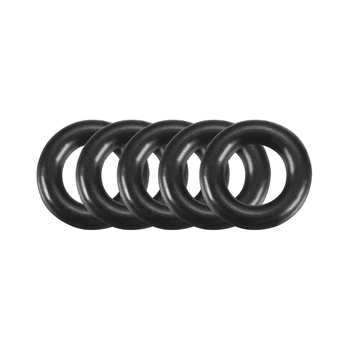 100Pcs 6.5x1.5mm Nitrile Rubber O-rings Heat Resistant Sealing Ring Grommets