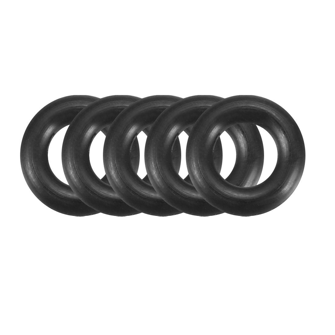 100Pcs Black 6mm x 1.5mm Nitrile Rubber O Ring NBR Oil Sealing Grommets