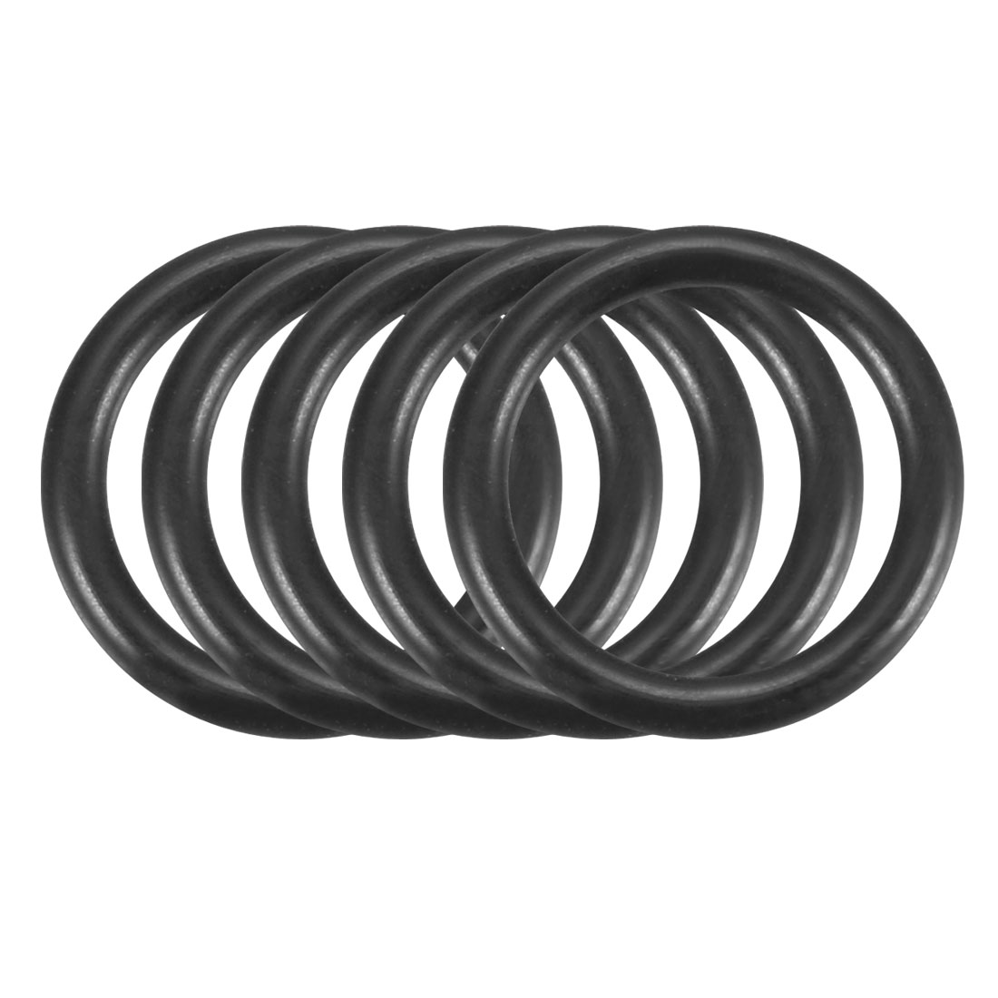 100Pcs Black 11.5mm x 1.5mm Nitrile Rubber O Ring NBR Oil Sealing Grommets