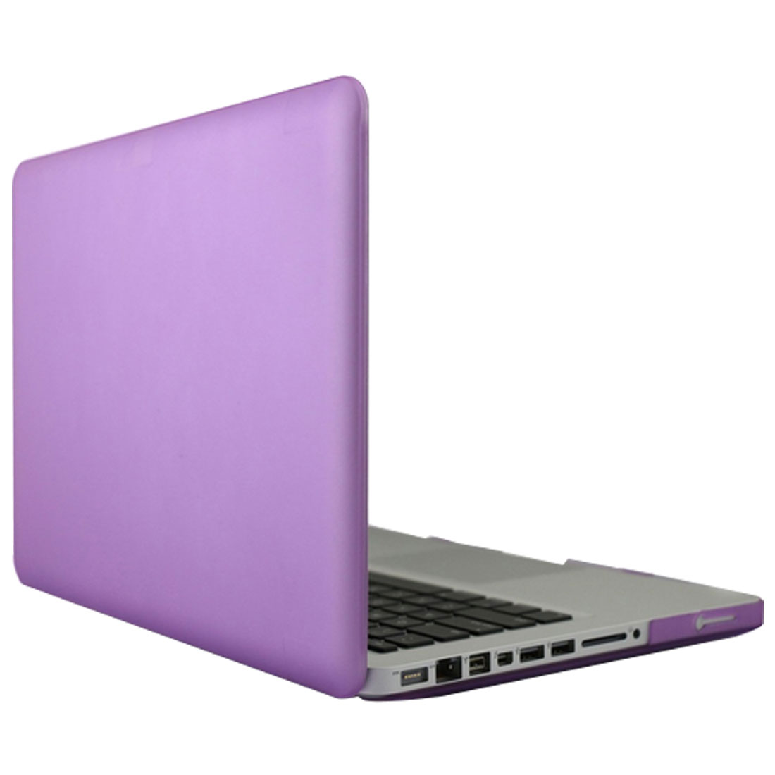 Laptop Plastic Surface Hard Cover Shell Case Purple for Macbook Pro 15 Inch