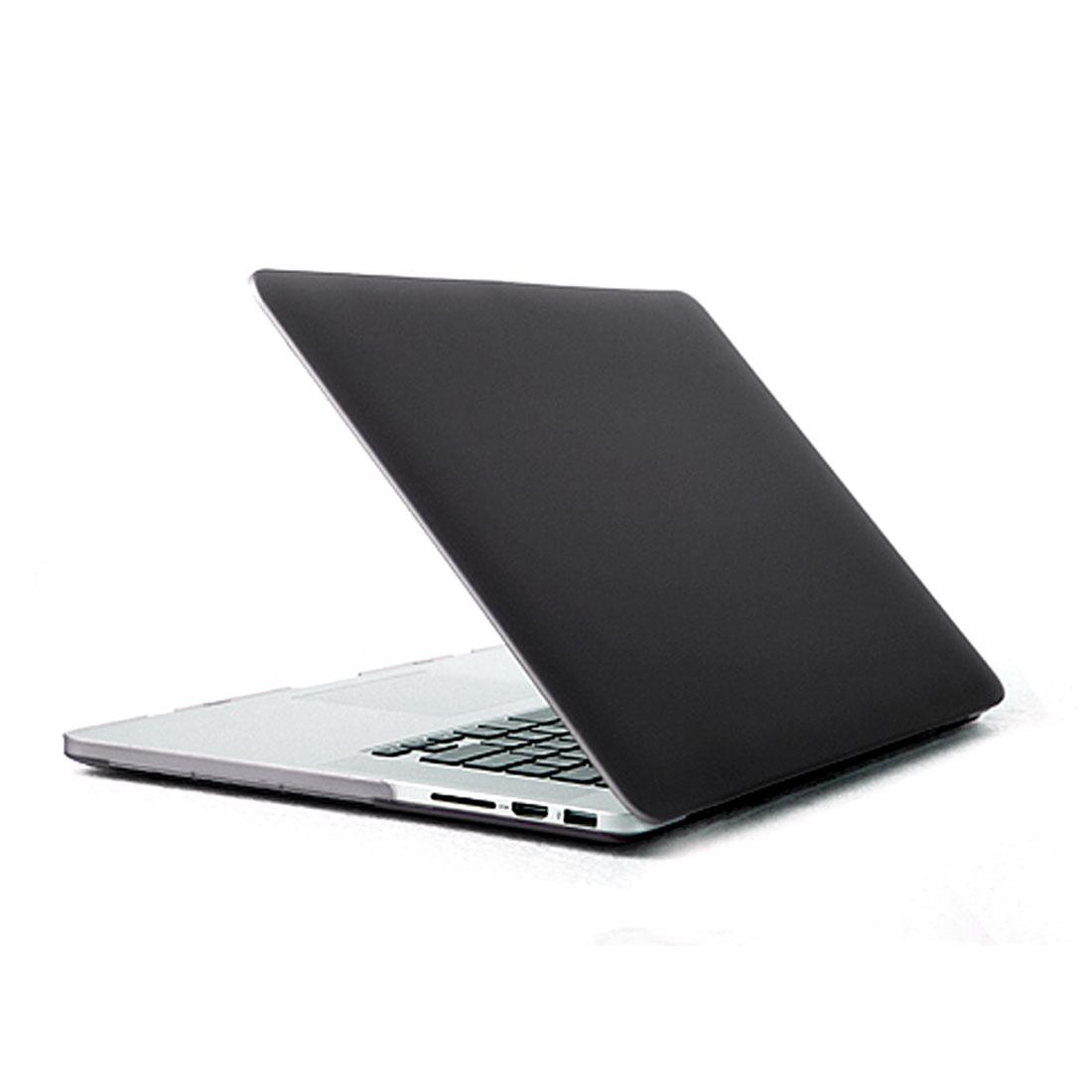 Plastic Hard Shell Cover Case Black for MacBook Pro 15 Inch Retina