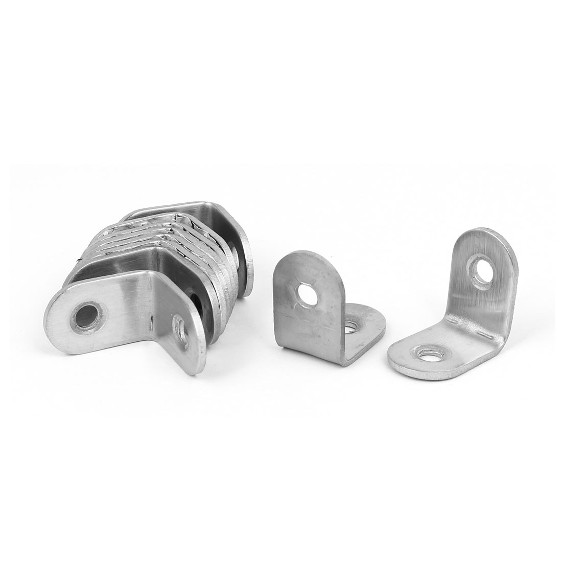 25mmx25mm Stainless Steel 90 Degree Corner Brace Angle Bracket Connector 10pcs