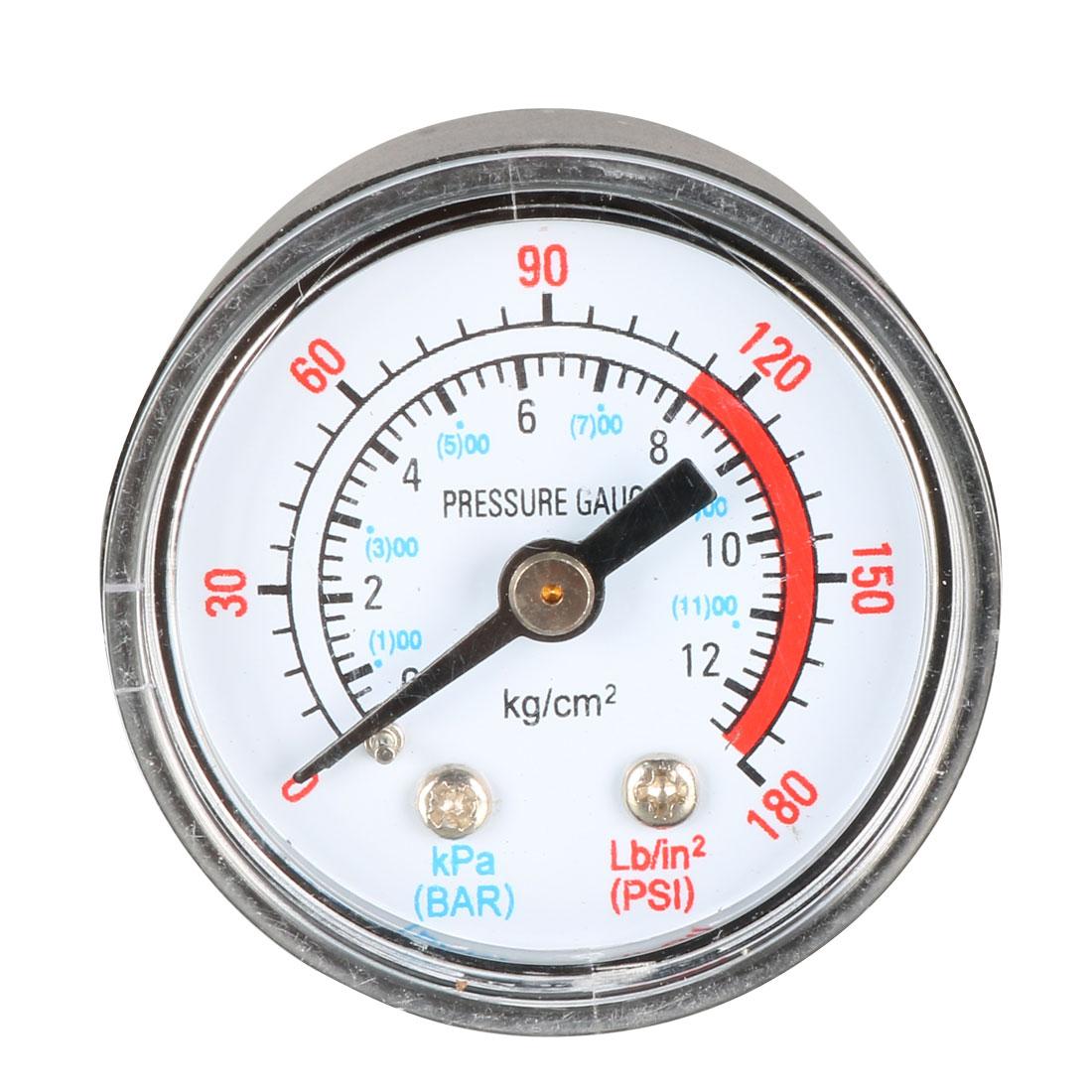 1/8BSP Male Threaded 12 Bar 170 Psi Compressor Barometer Pressure Gauge 2pcs