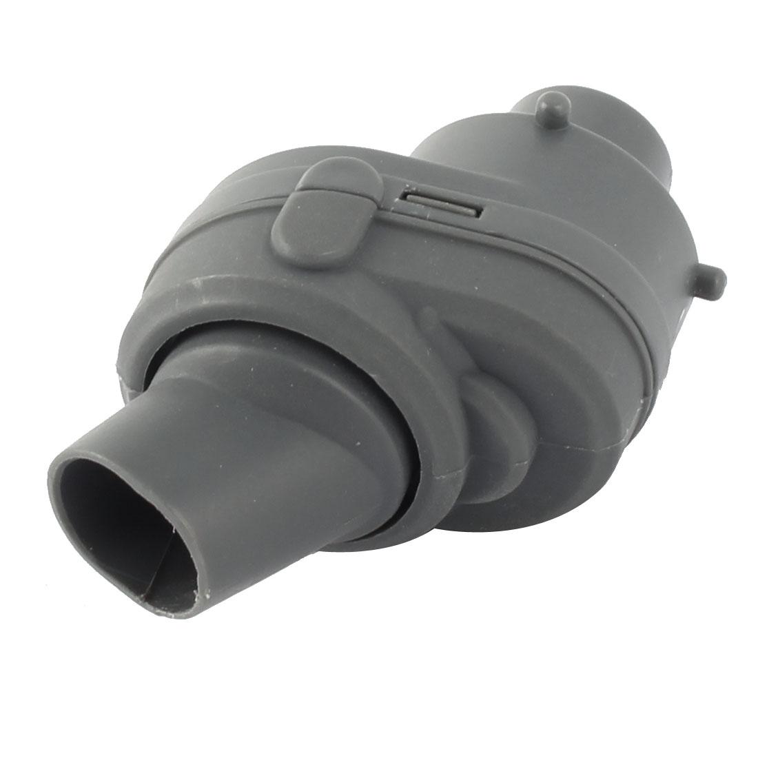 Aquarium Tank Plastic Universal Water 360 Degree Spin Rotating Nozzle Gray