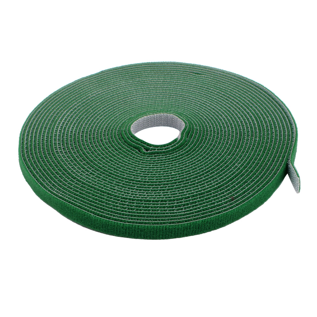 1cm Width 10m Long Green Sticky Reusable Cable Ties Back To Back Tape Strip