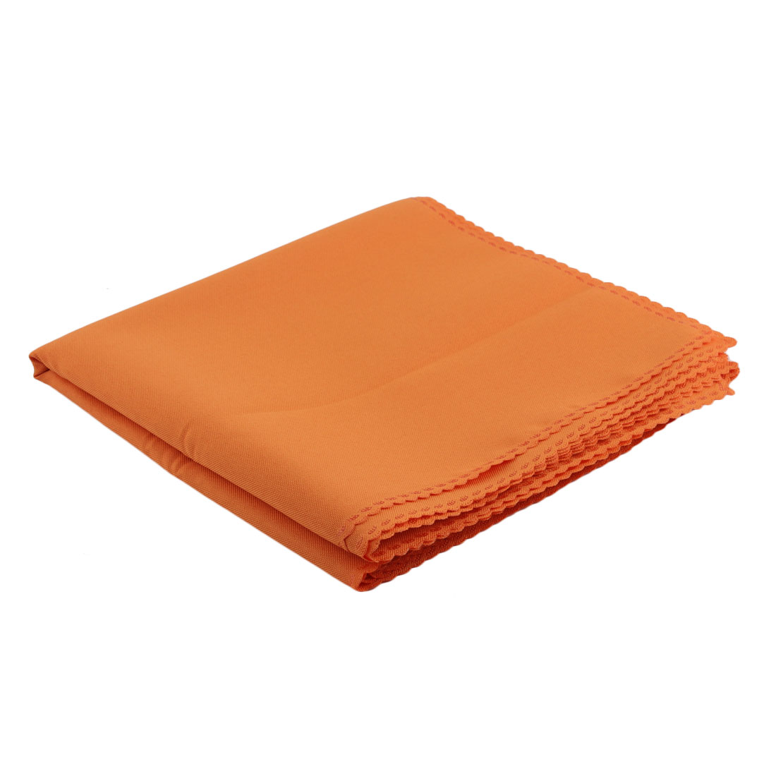 Kitchen Dining Room Fabric Stain-resistant Table Placemat Eat Mat Orange 6 Pcs