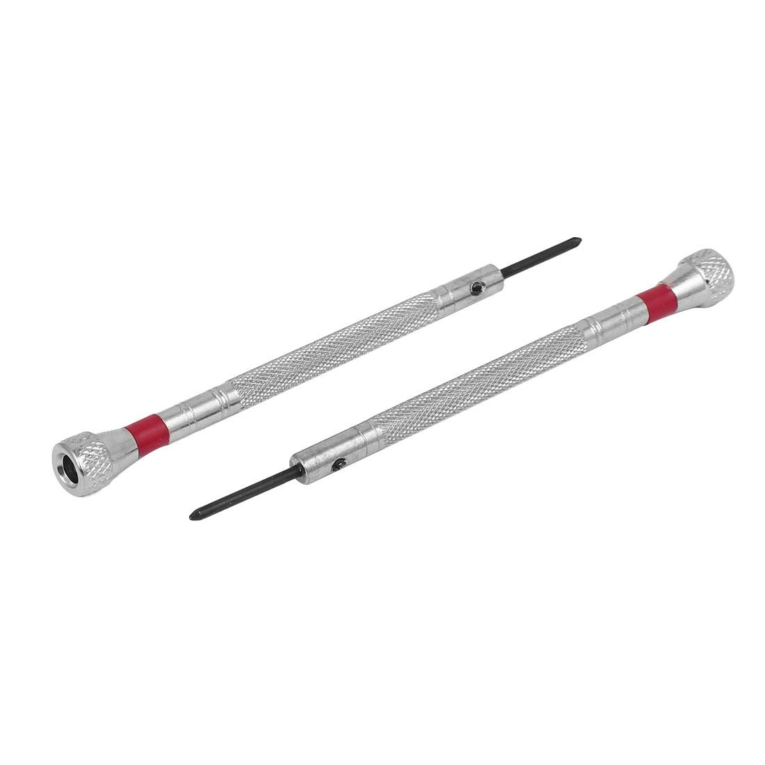 1.6mm Width Tip Knurled Handle Phillips Screwdriver Watch Repair Tool 2pcs