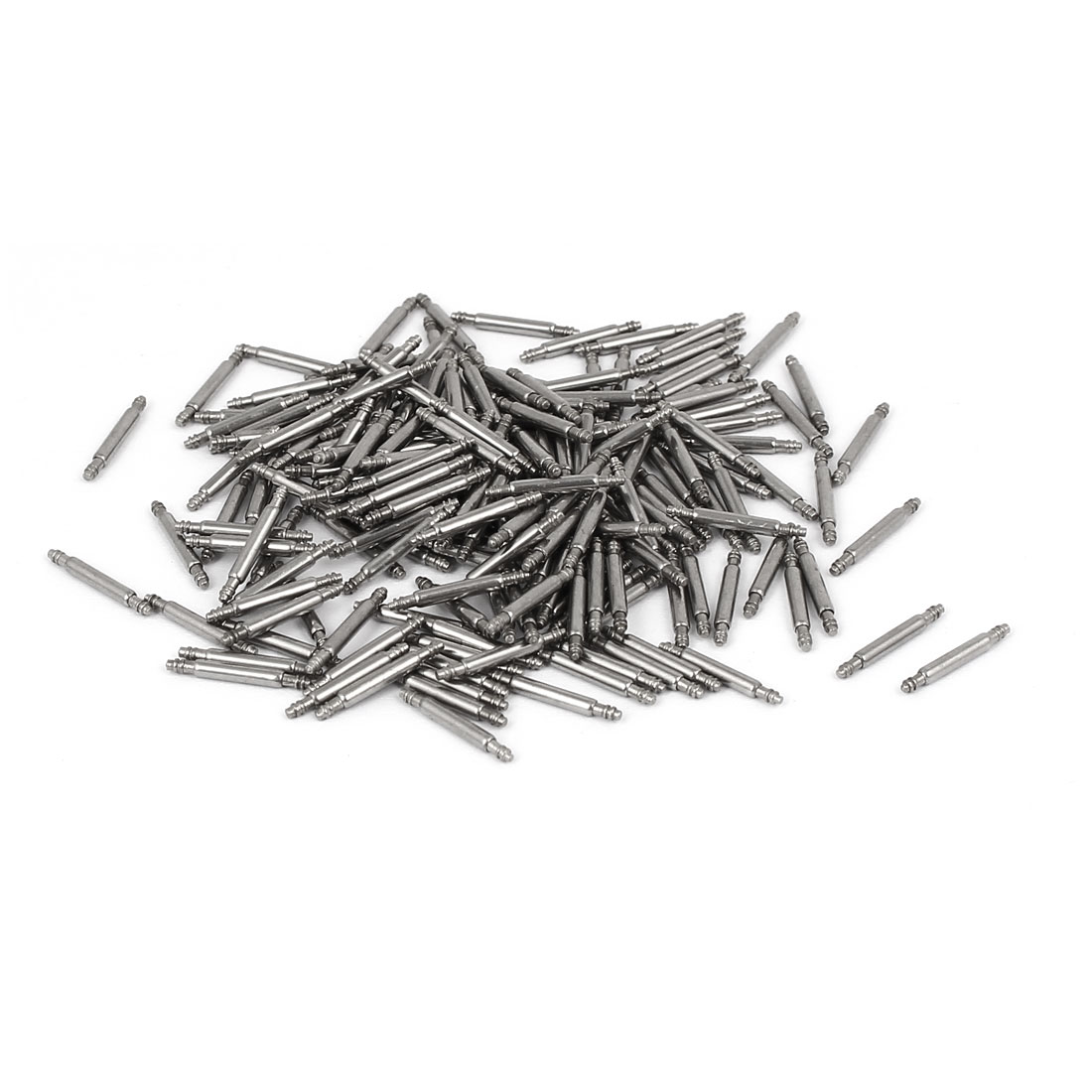 Stainless Steel Double Flanged End Spring Bar Pin 200pcs for 10mm Watch Band