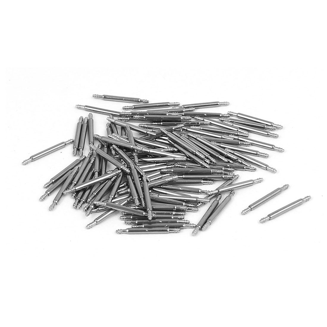 Stainless Steel Double Flanged End Spring Bar Pin 100pcs for 13mm Watch Band