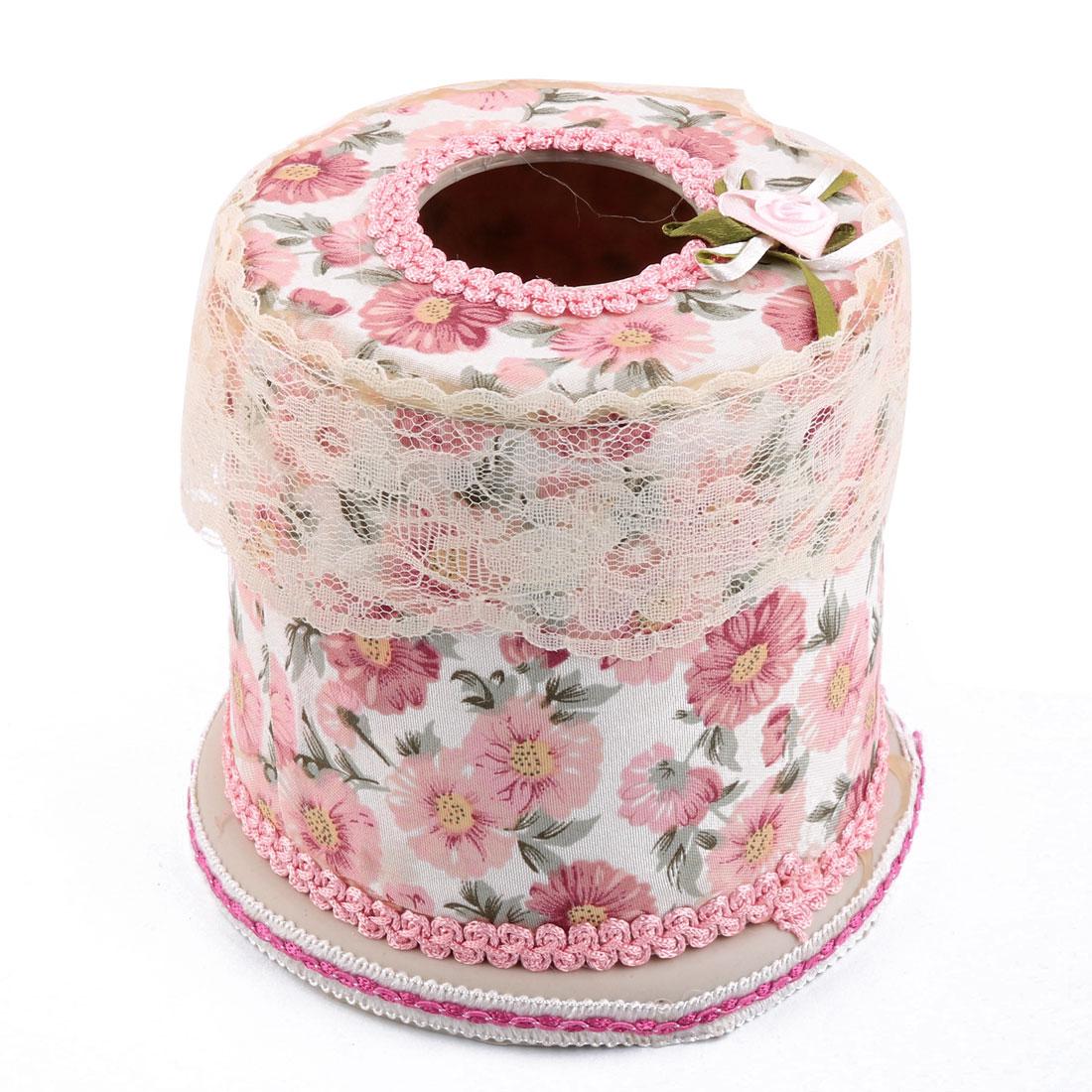 Plastic Household Restaurant Office Flower Pattern Napkin Tissue Box Holder