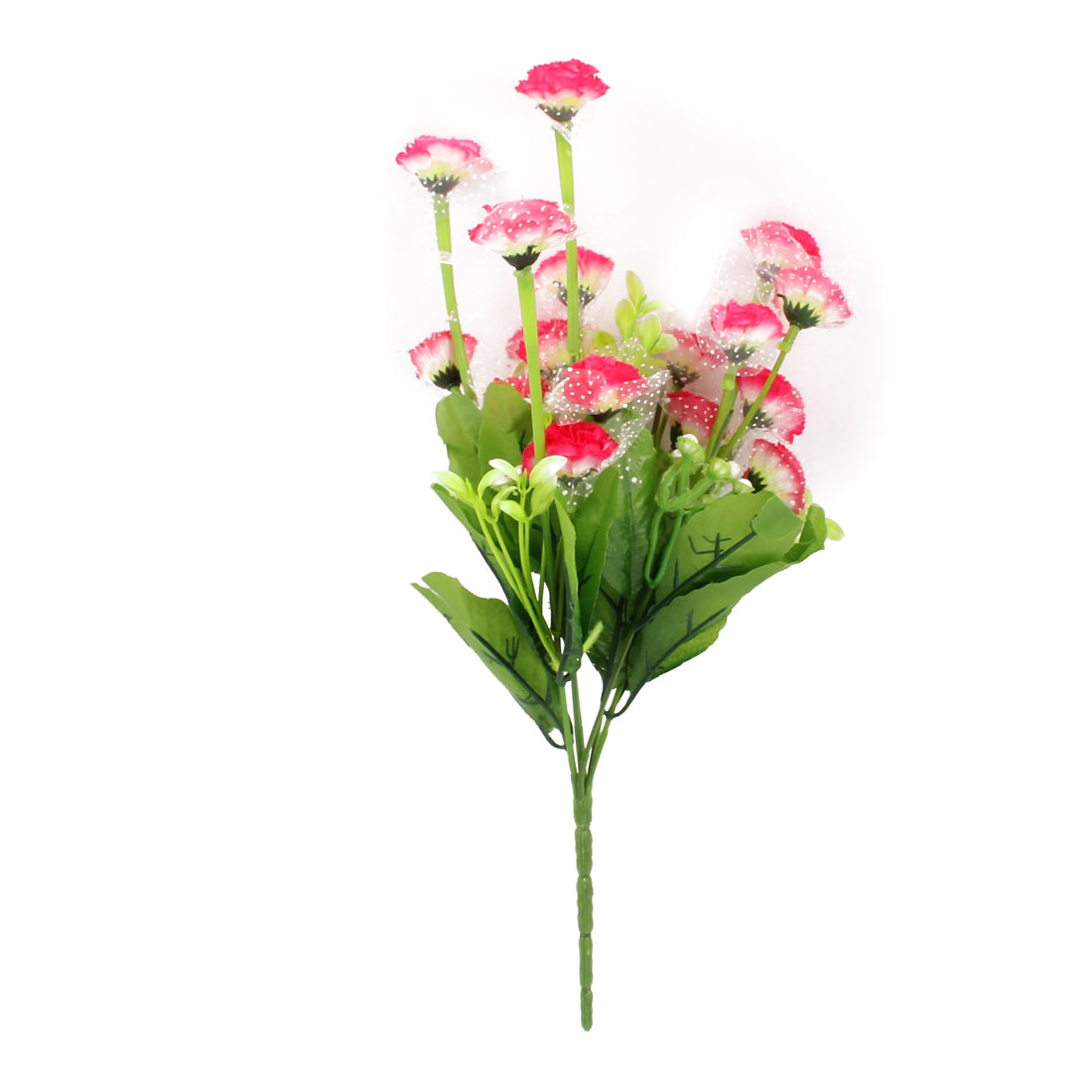 Home Wedding Party Decor Artificial Flowers Ornament Pink Green 33cm Long
