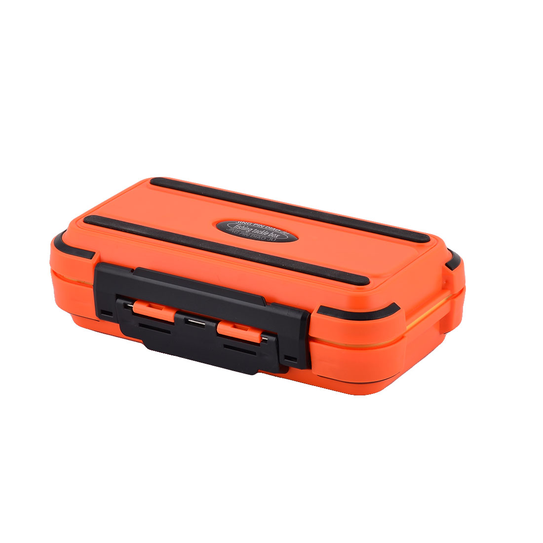 Plastic Fishing 24 Compartments Fish Hook Bait Storage Box Case Fishhook Holder Orange